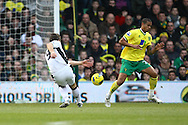 Picture by Paul Chesterton/Focus Images Ltd.  07904 640267.31/12/11.Orlando Sa of Fulham opens the scoring and celebrates during the Barclays Premier League match at Carrow Road Stadium, Norwich..