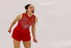 February 12, 2018 - Gangneung, South Korea - Mirai Nagasu of USA reacts after her performance during the Team Event Ladies Single Skating FS at the PyeongChang 2018 Winter Olympic Games at Gangneung Ice Arena on Monday February 12, 2018. (Credit Image: © Paul Kitagaki Jr. via ZUMA Wire)