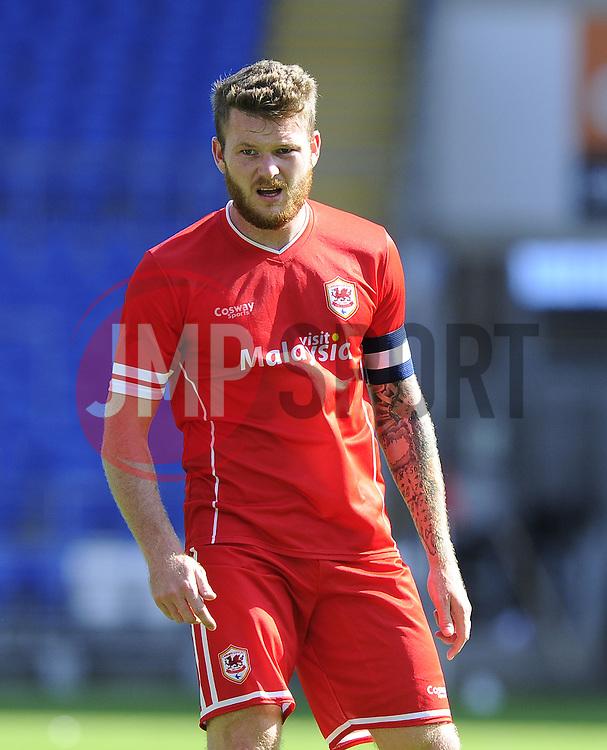 Cardiff City's Aron Gunnarsson - Photo mandatory by-line: Joe Meredith/JMP - Mobile: 07966 386802 02/08/2014 - SPORT - FOOTBALL - Cardiff - Cardiff City Stadium - Cardiff City v VfL Wolfsburg - Pre-Season Friendly