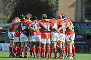 Wycombe, GREAT BRITAIN,  Warriors Huddle before  the Guinness Premiership match,  London Wasps vs Worcester Warriors at Adam's Park Stadium, Bucks on Sun 14.09.2008. [Photo, Peter Spurrier/Intersport-images]