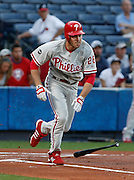 Philadelphia Phillies second baseman Chase Utley during the game between the Atlanta Braves and the Philadelphia Phillies at Turner Field in Atlanta, GA on April 30, 2007..