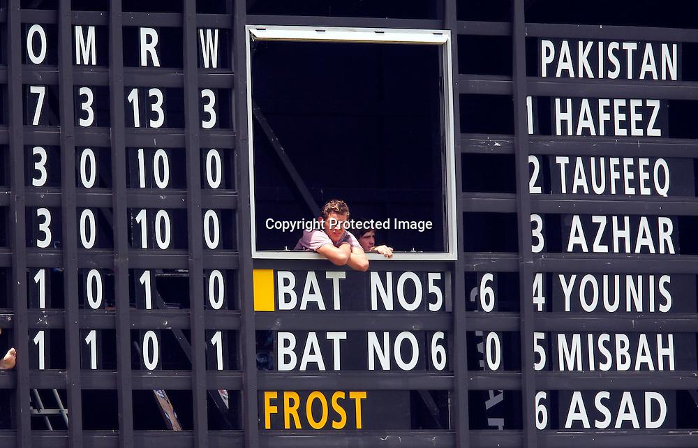International Cricket, New Zealand XI v Pakistan, Day 2, Cobham Oval Whangarei, Monday 3rd January 2011. Photo: Shane Wenzlick / www.photosport.co.nz