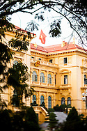 A view of the Presidential Palace in Ba Dinh Square, Hanoi, Vietnam, Southeast Asia.