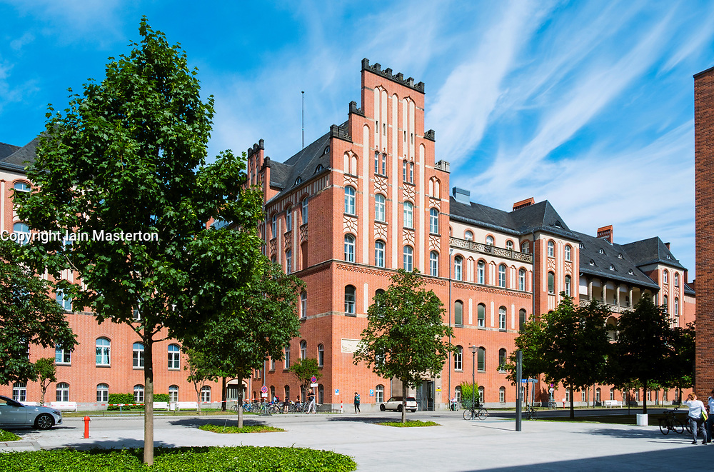 Exterior of Charite Hospital in Mitte, Berlin, Germany