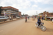 Boda Boda motorices are a popular and affordable mode of transport in Uganda.