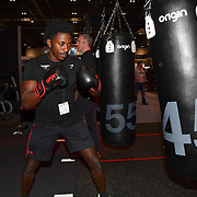 Chris Henry is a fitness trainer of Origin Fitness exhibition at Elevate 2019 on 8 May 2019, at Excel London, UK.