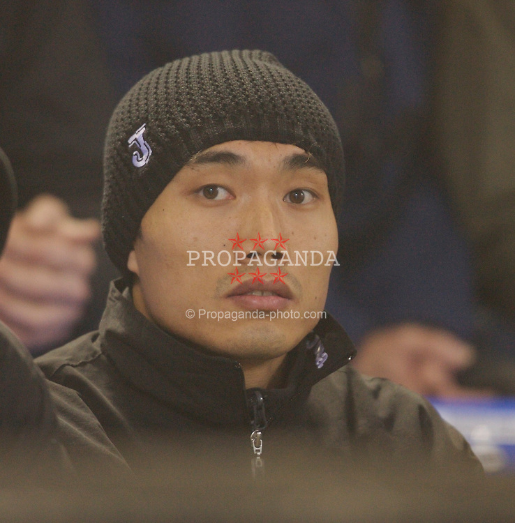 Bolton, England - Wednesday, January 31, 2007: Charlton Athletic's China International player Zheng Zhi watches from the sidelines against Bolton Wanderers during the Premiership match at the Reebok Stadium. (Pic by David Rawcliffe/Propaganda)