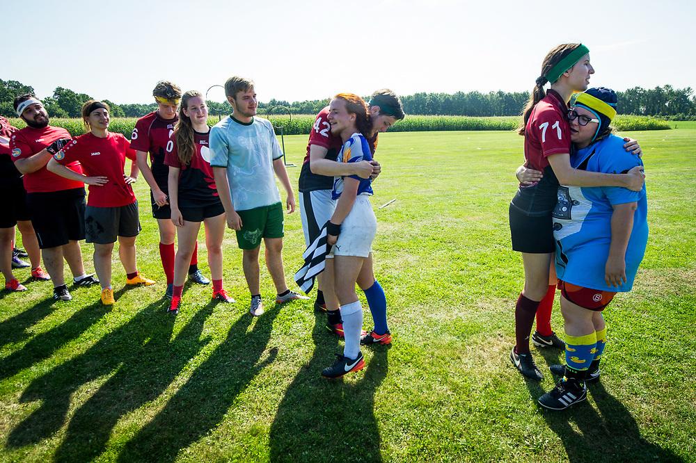 Foto: Gerrit de Heus. Lievelde. 27-08-2017. Nederlands Kampioenschap (NK) Quidditch. (Zwerkbal)