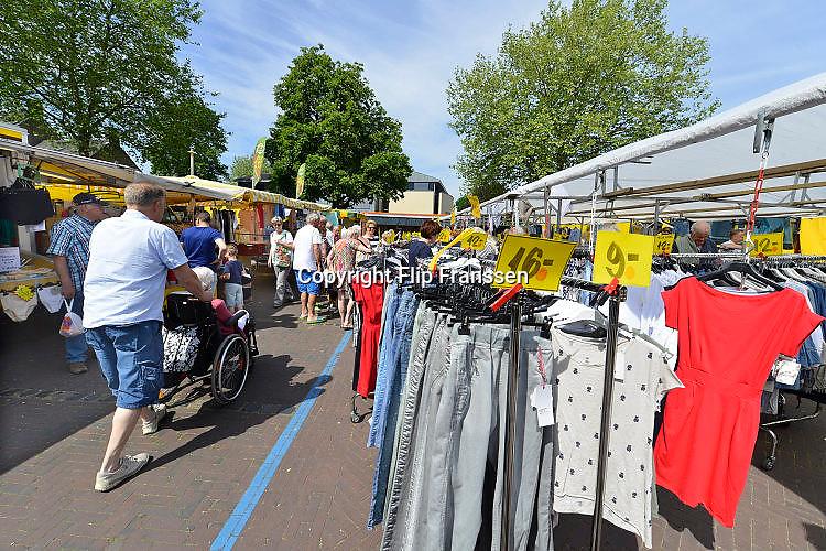 Nederland, Groesbeek, 6-6-2017Markt in dit dorp in Gelderland, Rijk van Nijmegen.Foto: Flip Franssen