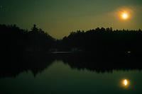 Night on Little Lake Joe in Muskoka, Ontario, Canada.