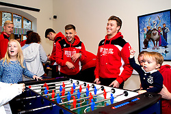 Jamie Paterson and Luke Freeman of Bristol City play table football duringBristol City's visit to the Children's Hospice South West at Charlton Farm - Mandatory by-line: Robbie Stephenson/JMP - 21/12/2016 - FOOTBALL - Children's Hospice South West - Bristol , England - Bristol City Children's Hospice Visit