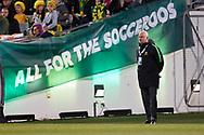 CANBERRA, AUSTRALIA - OCTOBER 10: Australian coach Graham Arnold  before kickoff at the FIFA World Cup Qualifier soccer match between Australia and Nepal on October 10, 2019 at GIO Stadium in Canberra, Australia. (Photo by Speed Media/Icon Sportswire)