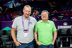 Matej Erjavec and Zoran Jankovic during basketball match between National Teams of Slovenia and Spain at Day 15 in Semifinal of the FIBA EuroBasket 2017 at Sinan Erdem Dome in Istanbul, Turkey on September 14, 2017. Photo by Vid Ponikvar / Sportida
