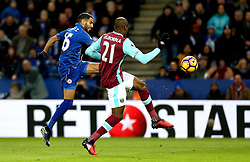 Riyad Mahrez of Leicester City shoots at goal - Mandatory by-line: Robbie Stephenson/JMP - 31/12/2016 - FOOTBALL - King Power Stadium - Leicester, England - Leicester City v West Ham United - Premier League