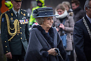 8-2-2017 DEN HAAG - Prinses Beatrix der Nederlanden is woensdagochtend 8 februari in Madurodam aanwezig bij de onthulling van het beeld &lsquo;Grote George&rsquo; door burgemeester Van Aartsen van de gemeente Den Haag. De beelden &lsquo;Grote George&rsquo; en &lsquo;Kleine George&rsquo; vormen samen een monument ter nagedachtenis aan de op Cura&ccedil;ao geboren en in 1945 overleden veteraan en verzetsstrijder George Maduro. Copyright ROBIN UTRECHT<br /> 8-2-2017 THE HAGUE - Princess Beatrix of the Netherlands is Wednesday February 8 in Madurodam attended the unveiling of the sculpture &quot;Big George&quot; by Mayor Van Aartsen of The Hague. The images 'Big George' and 'Little George' together form a monument commemorating born in Curacao and in 1945 deceased veteran resistance fighter George Maduro. Copyright ROBIN UTRECHT