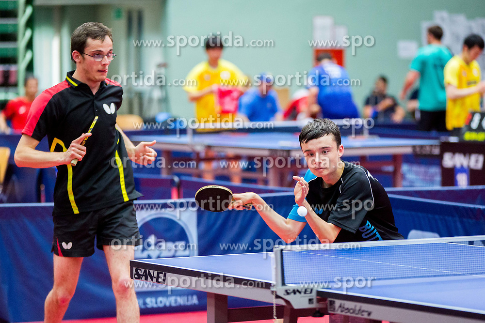 (Team BEL) VAN ACKER Florian and PALOS Petero in action during 15th Slovenia Open - Thermana Lasko 2018 Table Tennis for the Disabled, on May 10, 2018 in Dvorana Tri Lilije, Lasko, Slovenia. Photo by Ziga Zupan / Sportida