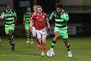 Forest Green Rovers Reuben Reid(26) runs forward during the EFL Sky Bet League 2 match between Crewe Alexandra and Forest Green Rovers at Alexandra Stadium, Crewe, England on 20 March 2018. Picture by Shane Healey.