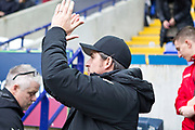 Fleetwood Town manager Joey Barton  before during the EFL Sky Bet League 1 match between Bolton Wanderers and Fleetwood Town at the University of  Bolton Stadium, Bolton, England on 2 November 2019.