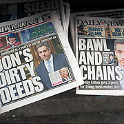 Daily News cover headlines about  President Trump latest tweets<br /> Daily News Headlines &quot; Bawl and Chains&quot; Creep Cohen gets 2 years for Trump hush money, lies&quot;<br /> New York Post Headllines &quot;Cohen sentenced to 3 yesrs in jail for coverting up  Don's Dirty Deeds&quot;