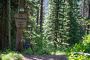 Great Bear Wilderness Flathead National Forest sign