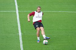 LLANELLI, WALES - Tuesday, August 14, 2012: Wales' Joel Lynch during a training session at Parc y Scarlets ahead of the international friendly match against Bosnia-Herzegovina. (Pic by David Rawcliffe/Propaganda)