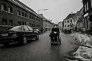 As a child, Steffen was severely injured in a car accident, leaving him quadriplegic. 24 hours a day, 7 days a week, he relies on the helpers for everything.<br /> <br /> Steffen takes his wheelchair for a spin in downtown Aarhus, Denmark.