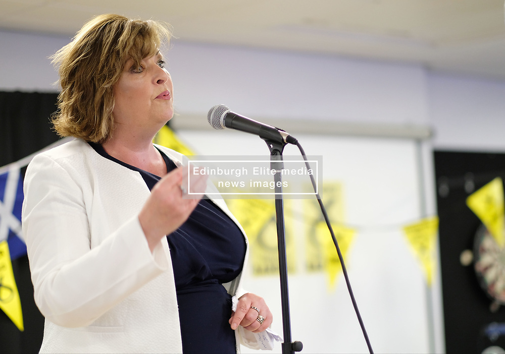 Hannah Bardell Election Campaign Launch, Sunday 7th May 2017<br /> <br /> The Scottish National Party's Hannah Bardell launched her campaign to be re-elected to the Westminster Parliament in the General Election on June 8th 2017 in the Livingston constituency.<br /> <br /> Fiona Hyslop MSP, Angela Constance MSP and Martyn Day were present to watch the launch<br /> <br /> (c) Alex Todd   Edinburgh Elite media