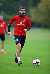 CARDIFF, WALES - Friday, September 2, 2016: Wales' Joe Ledley during a training session at the Vale Resort ahead of the 2018 FIFA World Cup Qualifying Group D match against Moldova. (Pic by David Rawcliffe/Propaganda)
