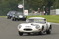HSCC Gold Cup Oulton Park, Cheshire, United Kingdom.  28th-29th August 2011.  Race 5 E-type Challenge (Race 1). 32 Mike Adams/Tony Jardine Jaguar E-type.  World Copyright: Peter Taylor/PSP. Copy of publication required for printed pictures. Every used picture is fee-liable.
