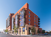 Architectural image of The Beacon Clarendon Apartments in Arlington VA by Jeffrey Sauers of Commercial Photographics, Architectural Photo Artistry in Washington DC, Virginia to Florida and PA to New England
