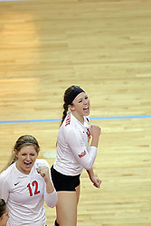 17 October 2014:  Kaitlyn Early during an NCAA Missouri Valley Conference (MVC) womens volleyball match between the Northern Iowa Panthers and the Illinois State Redbirds for 1st place in the conference at Redbird Arena in Normal IL