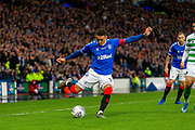 Rangers Captain James Tavernier during the Betfred Scottish League Cup Final match between Rangers and Celtic at Hampden Park, Glasgow, United Kingdom on 8 December 2019.