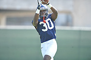 Mississippi's A.J. Moore (30) at football practice in Oxford, Miss. on Saturday, August 2, 2014. Mississippi opens the season against Boise State in Atlanta on August 28, 2014.