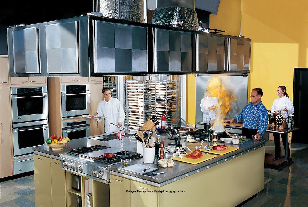 Test Kitchen alton brown in test kitchen, atlanta, georgia | wayne eastep