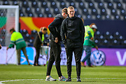 England goalkeeper Jordan Pickford (Everton) during the England walk around the pitch ahead of the Nations League Semi-Final against Holland at Estadio D. Afonso Henriques, Guimaraes, Portugal on 5 June 2019.