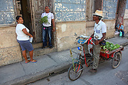 Bicitaxi delivering vegetables in Holguin,Cuba.