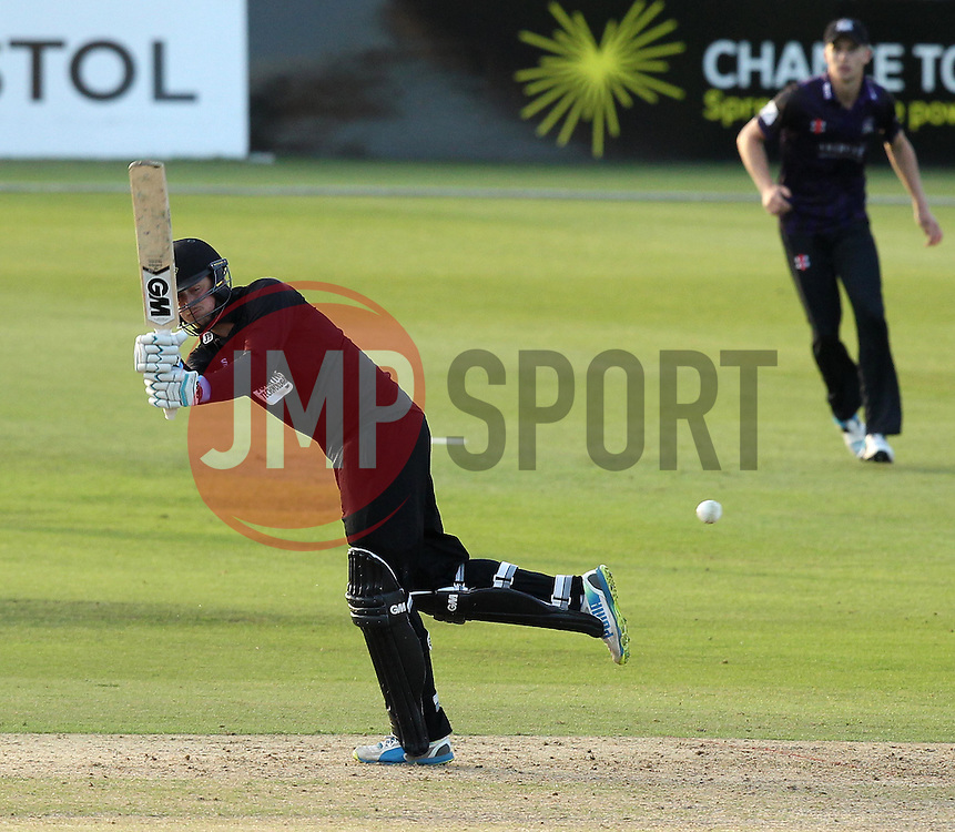 Sussex's Oliver Robinson flicks a shot away - Photo mandatory by-line: Robbie Stephenson/JMP - Mobile: 07966 386802 - 26/06/2015 - SPORT - Cricket - Bristol - The County Ground - Gloucestershire v Sussex - Natwest T20 Blast