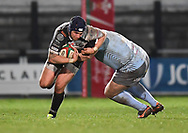Jake Thomas of Pontypridd<br /> <br /> Photographer Mike Jones/Replay Images<br /> <br /> Principality Premiership - Neath v Pontypridd - Friday 16th March 2018 - The Gnoll Neath<br /> <br /> World Copyright © Replay Images . All rights reserved. info@replayimages.co.uk - http://replayimages.co.uk