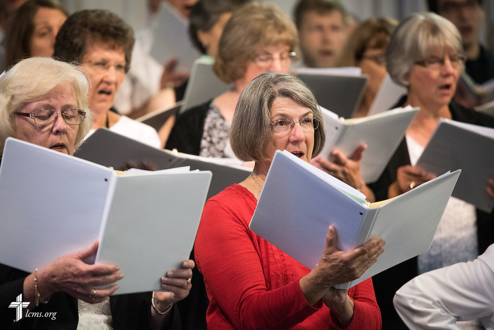 Choir members sing during the Opening Divine Service of the 66th Regular Convention of The Lutheran Church–Missouri Synod on Saturday, July 9, 2016, at the Wisconsin Center in Milwaukee. LCMS/Frank Kohn
