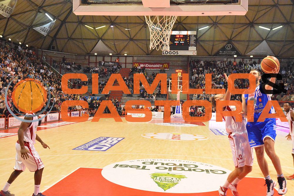 DESCRIZIONE : Pistoia Lega serie A 2013/14 Giorgio Tesi Group Pistoia Banco Di Sardegna Sassari<br /> GIOCATORE : manuel vanuzzo<br /> CATEGORIA : tiro<br /> SQUADRA : Banco Di Sardegna Sassari<br /> EVENTO : Campionato Lega Serie A 2013-2014<br /> GARA : Giorgio Tesi Group Pistoia Banco Di Sardegna Sassari<br /> DATA : 02/02/2014<br /> SPORT : Pallacanestro<br /> AUTORE : Agenzia Ciamillo-Castoria/M.Greco<br /> Galleria : Lega Seria A 2013-2014<br /> Fotonotizia : Pistoia Lega serie A 2013/14 Giorgio Tesi Group Pistoia Banco Di Sardegna Sassari<br /> Predefinita :
