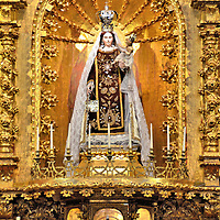 Gilded Chapel of Archbishop&rsquo;s Palace in Lima, Peru<br />