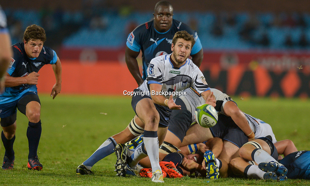 Alby Mathewson of the Force during the Super Rugby match between the Vodacom Bulls and the Force at the Loftus Versfeld on  21 March 2015<br /> &copy;BackpagePix