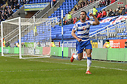 Reading FC midfielder Hal Robson-Kanu celebrates his goal during the The FA Cup fourth round match between Reading and Walsall at the Madejski Stadium, Reading, England on 30 January 2016. Photo by Mark Davies.