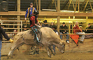 Brian rides during the rodeo at Fox Hollow Stables in Waynesville, Saturday, March 3rd.