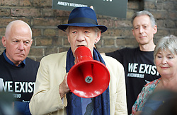 June 2, 2017 - London, London, United Kingdom - Image licensed to i-Images Picture Agency. 02/06/2017. London, United Kingdom. Sir Ian McKellen at an Amnesty International  protest outside the Russian Embassy in London, over the alleged .abduction, torture and even killing of men suspected of being Gay in the southern Russian republic of Chechnya. Picture by Elliott Franks / i-Images (Credit Image: © Elliott Franks/i-Images via ZUMA Press)