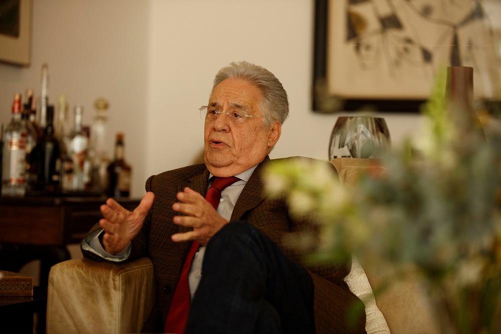 SÃO PAULO - BRASIL, 15 de junho de 2017: O ex-presidente da República Fernando Henrique Cardoso concede entrevista à IstoÉ em sua casa, em São Paulo. Foto: Caio Guatelli
