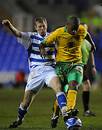 Reading - Saturday December 13th, 2008: Brynjar Gunnarsson of Reading in action against Carl Cort of Norwich City during the Coca Cola Championship match at The Madjeski Stadium, Reading. (Pic by Alex Broadway/Focus Images)