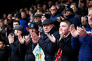 Southend crowd during the one minutes applause for 14 year old Lilly Whythe during the EFL Sky Bet League 1 match between Southend United and Burton Albion at Roots Hall, Southend, England on 22 February 2020.