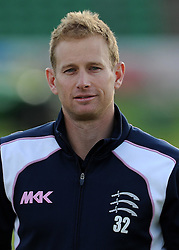 All smiles for Middlesex's Captain Adam Voges - Photo mandatory by-line: Harry Trump/JMP - Mobile: 07966 386802 - 29/04/15 - SPORT - CRICKET - LVCC Division One - County Championship - Somerset v Middlesex - Day 4 - The County Ground, Taunton, England.