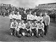 05/05/1957<br /> 05/05/1957<br /> 05 May 1957<br /> Soccer: Final of Top Four Competition: Evergreen United v Drumcondra at Dalymount Park Dublin. The Drumcondra team.